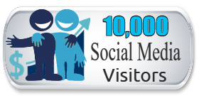 10,000 Social Media Visitors SALE $9.99